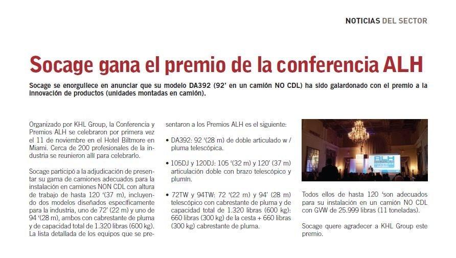 socage gana el premio de la conferencia alh 2 19
