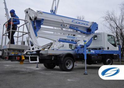 boom lift platform ForSte 24DJ latreral Socage