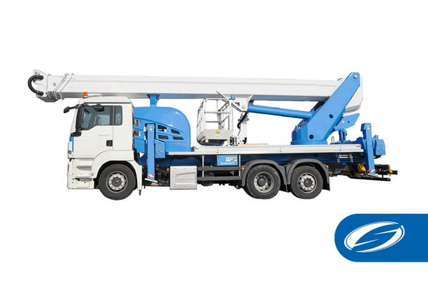 Truck with articulated lifting basket jib ForSte 51TJ Socage