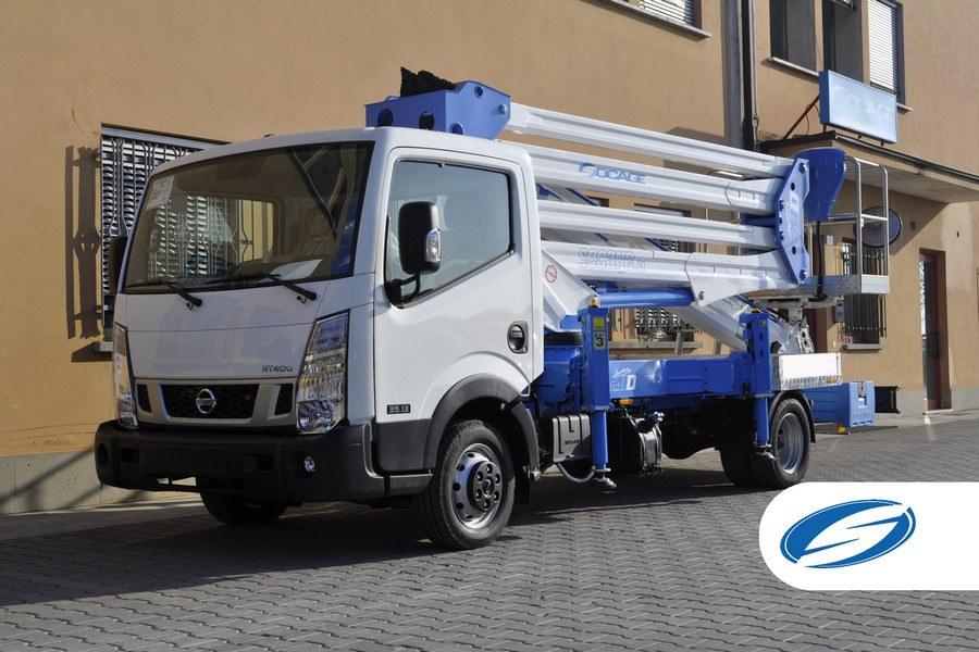 Trucks with lift basket ForSte 28D vehicle Socage
