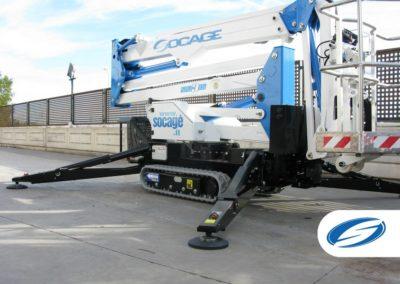 crawler lift platform ForSte spj315 stabilizers Socage