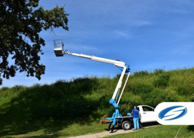 pick up WITH LIFT BASKET FORSTE 16A telescopic arm Socage