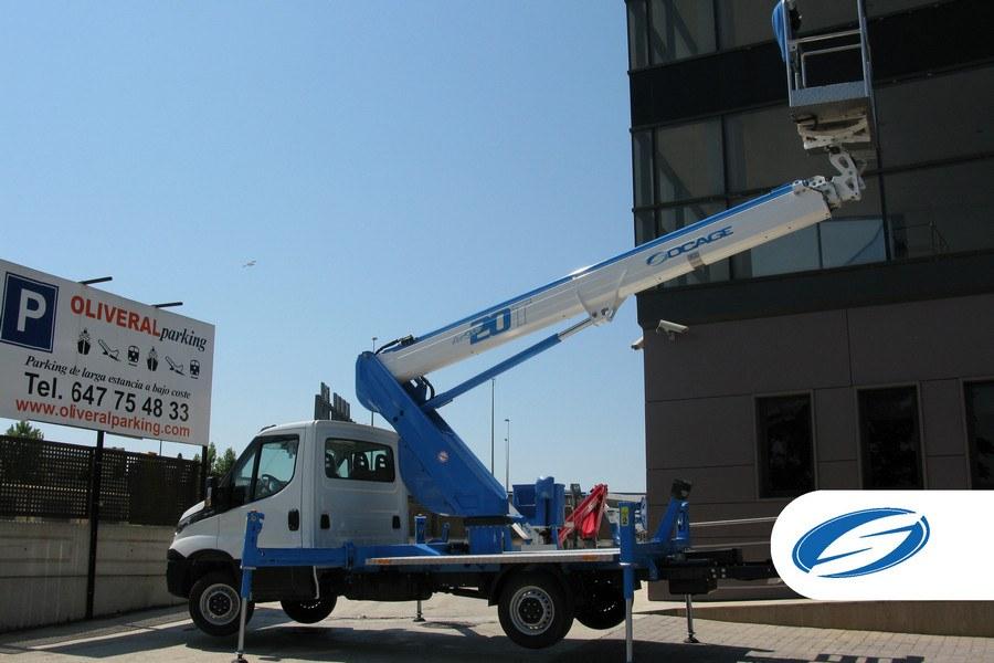 platform on truck ForSte 20T arm extension Socage
