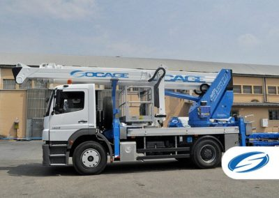 trucks with articulated lift basket jib ForSte 35TJ lateral Socage 1