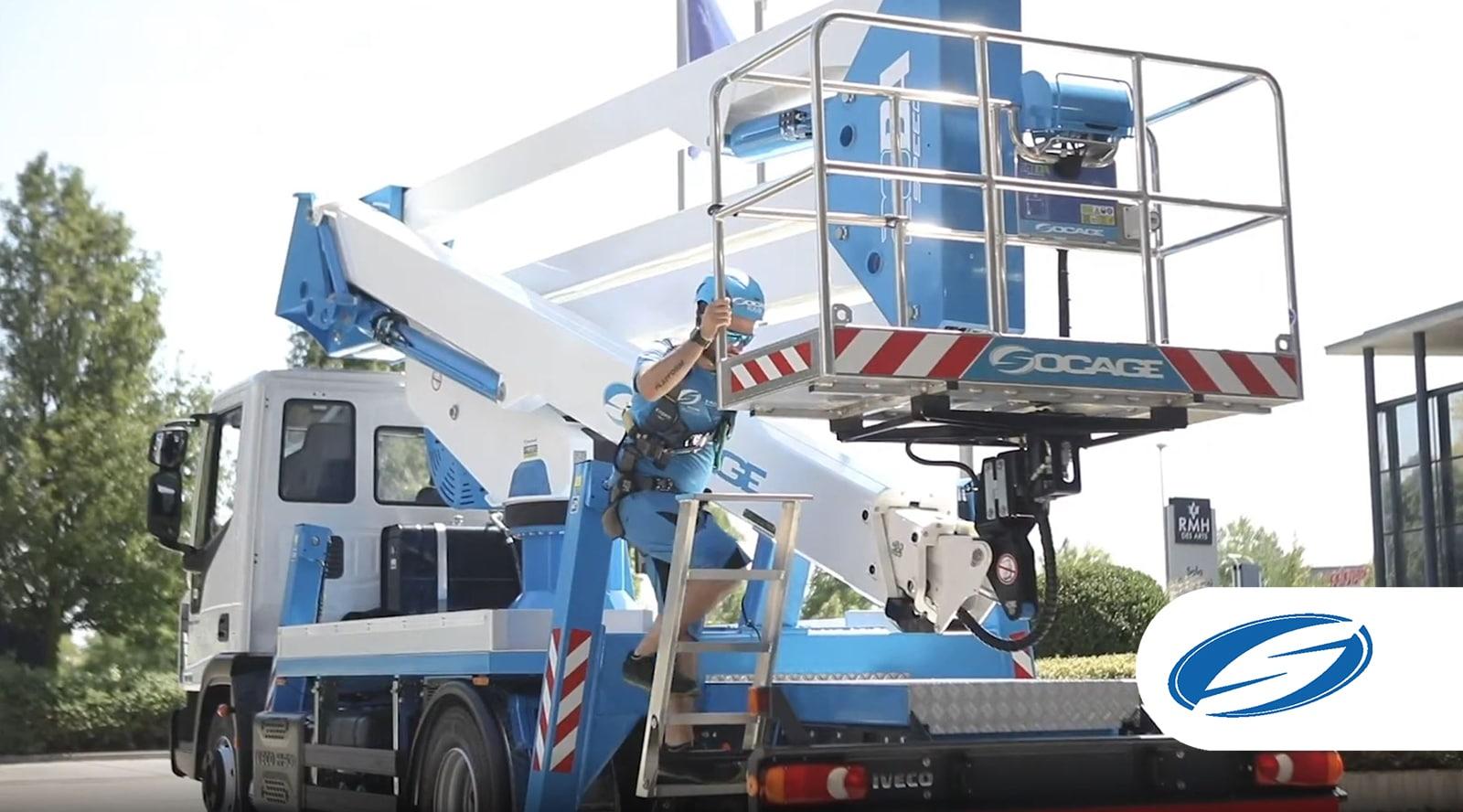 Truck-mounted boom lift 28DA bucket