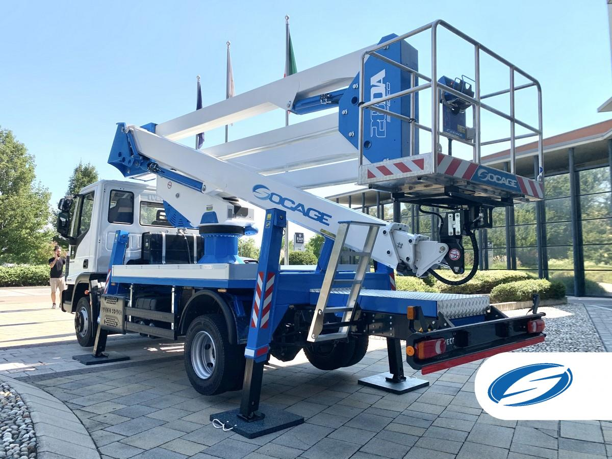 Truck-mounted boom lift 28DA SPEED bucket