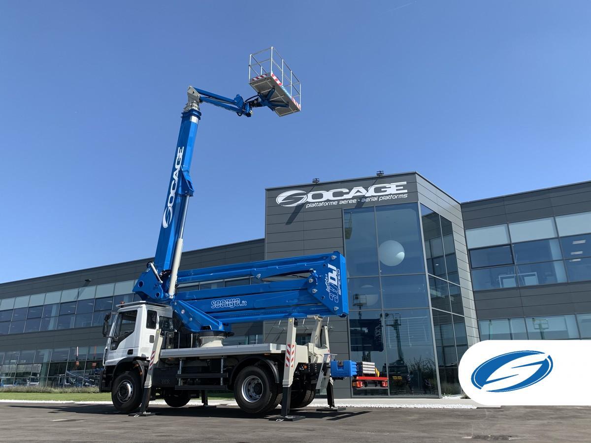 Truck mounted boom lift 37dj speed SOCAGE