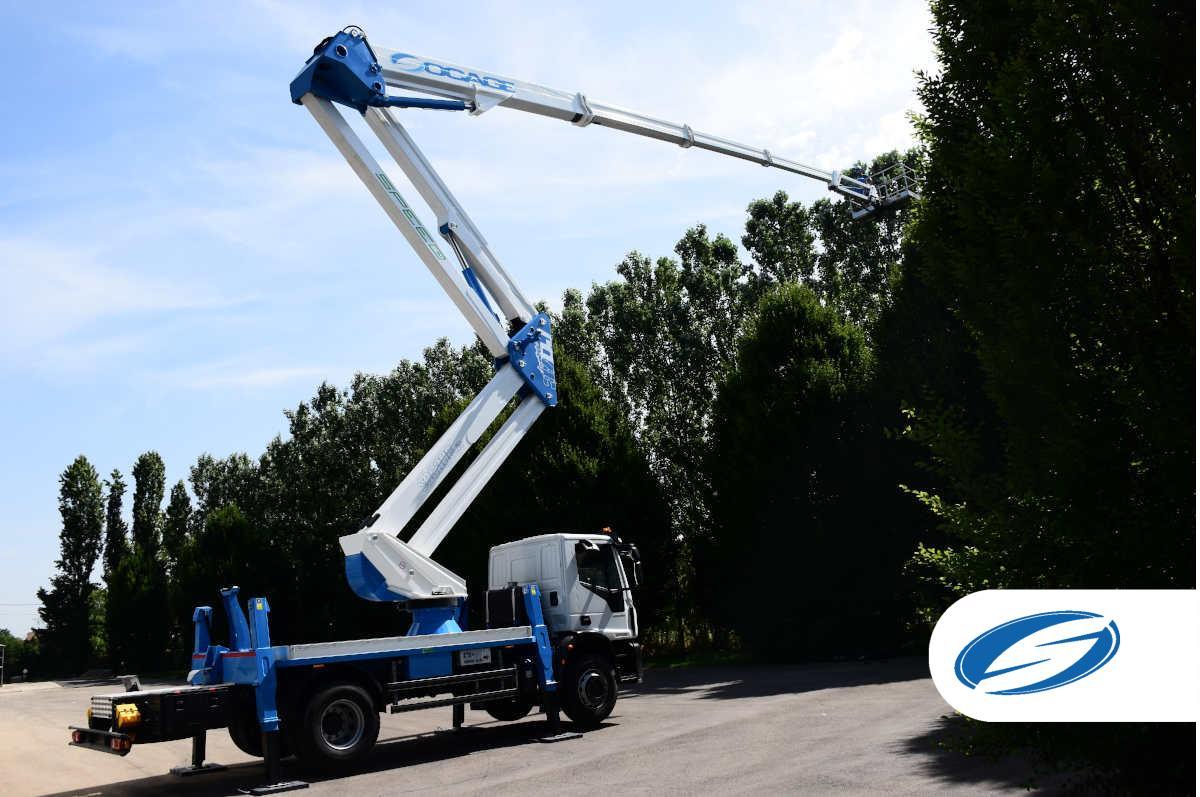 SOCAGE Truck mounted boom lift 37dj speed