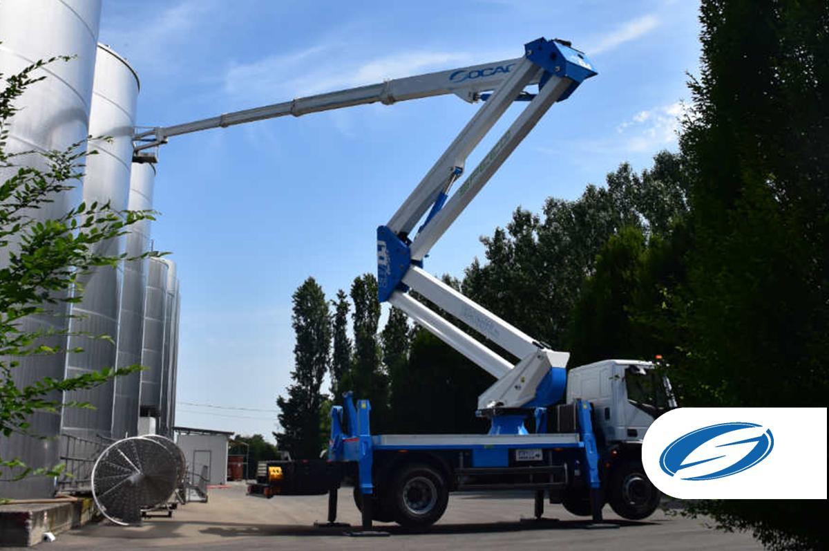Truck mounted boom lift socage 37dj speed rear reach