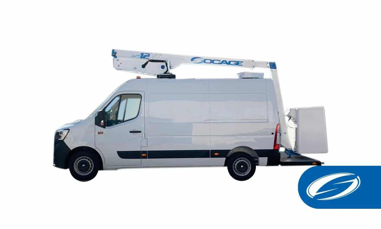 van with boom lift forste 12VT