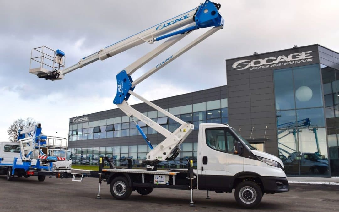Aerial platform truck 24D SPEED, the most complete articulated platform