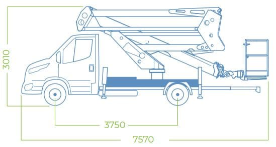 dimensions aerial work platform 24D SPEED